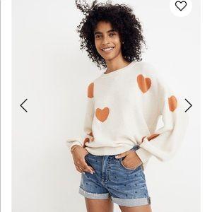 NEW • Madewell • Heart Dot Balloon Sleeve Sweater